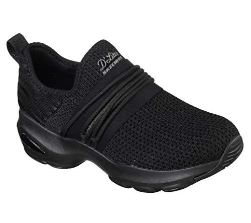30a6e195b93e9 Skechers Donna Sneakers in Tessuto Nero 12864. Calzature Primavera-Estate  2019. Calzature con