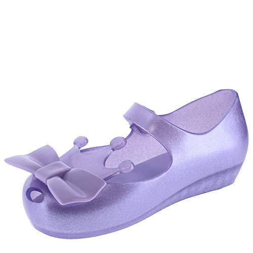 Mini Melissa Baby Mädchen Ultragirl Princess Me BB (Kleinkind/Kleinkind), Violett (Clear Glitter Lila), 28.5 EU