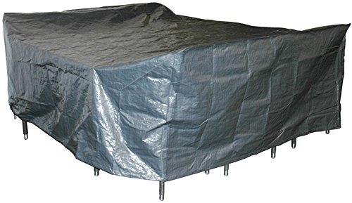 habeig® Schutzhülle für Gartenmöbel 300 x 250 x 80 cm ++ Premiumqualität aus 140g / m² PP Woven Gewebe wasserdicht ++ für große Sitzgruppe