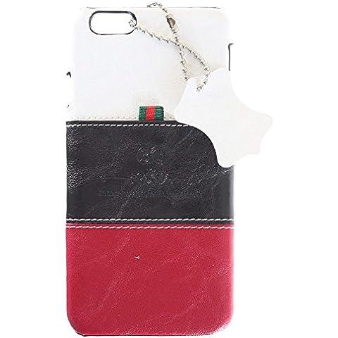 3Q Lujosa Carcasa Apple iPhone 6 Carcasa iPhone 6S Funda Cover Novedad Mayo 2016 Funda iPhone 6 Top Diseño lujoso exclusivo Suizo Blanco Negro
