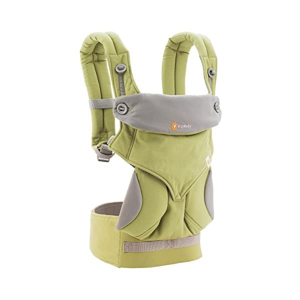 Ergobaby baby carrier collection 360 (5.5 - 15 kg), Green Ergobaby 4 ergonomic wearing positions: front-inward, front-outward, hip and back carry Structured bucket seat keeps baby seated in the anatomically correct frog-leg position Exceptionally comfortable thanks to adjustable, extra-wide waistband to support the lower back 2