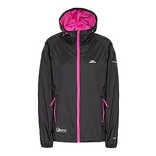 Trespass Womens/Ladies Qikpac Waterproof Packaway Shell Jacket (M) (Black)