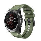 Hunpta@ Uhrenarmband für Garmin Fenix 5X Plus,HunptaSchnellwechsel Ersatz Silikonarmband Uhrenarmband Handschlaufe (Armeegrün)