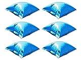 well2wellness 6 x Pool Luftkissen Winterkissen PE Deluxe mit Sicherheitsventil für Pool Abdeckplanen