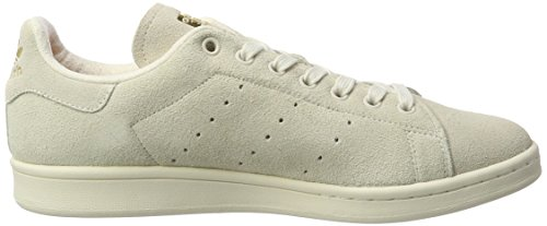 adidas Stan Smith, Sneakers Basses Homme Blanc (Chalk White/chalk White/matte Gold)