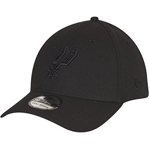 New Era Herren Caps / Flexfitted Cap NBA Black On Black San Antonio Spurs 39Thirty schwarz M/L