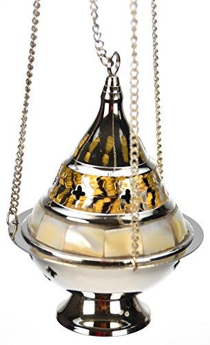 Weihrauchschwenker Antiklook mit Perlmutt und goldenen Akzenten