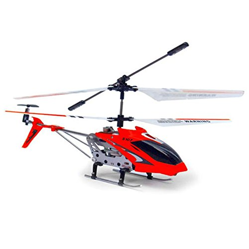 Helicopter SYMA S107G 3-Kanal Infrarot mit Gyro (Rot) [Spielzeug] - Helicopter Syma Rot