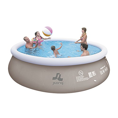 Jilong Marin Grey Pool Set Ø 450x106 cm Quick-Up Swimmingpool inkl. Pumpe Abdeckplane Bodenplane