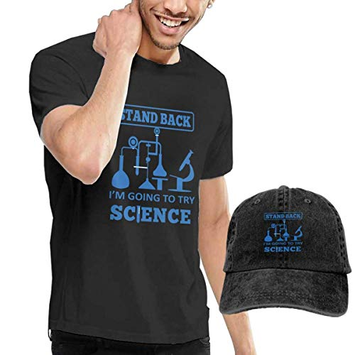 Sleeve Camiseta Para HombreStand Back Short Science Denim Shirts I'm To Henrnt Try Hat Going H9EI2D