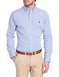 RALPH LAUREN - Chemise rayée Ralph Lauren bleu et blanche pour homme