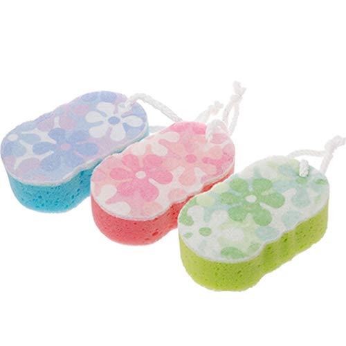 Sevenfly Badeschwamm Massage Multi Shower Peeling Körperreinigung Wäscher Zufällige Farbe (Gesichts-wäscher-schwamm)