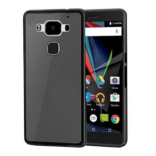 XEPTIO Archos Diamond 2 Plus 4G/LTE 2016 Dual SIM Protektor case TPU grau Tasche Hülle - Zubehör Etui Cover Archos Diamond 2+ 5.5 Zoll Grey Accessoires