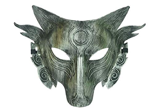 Kostüm Männer Wolf - Star Cosplay Wolf Kostüm Maske Full Face Maskerade Maske für Männer Frauen Halloween Party Spiel Dekoration (Silver 1)