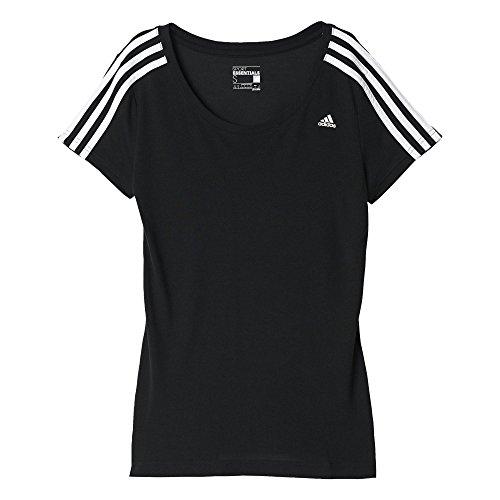 Adidas Ess 3S Tank, Tank Top per Donna, Nero/Bianco (Nero/Bianco), S