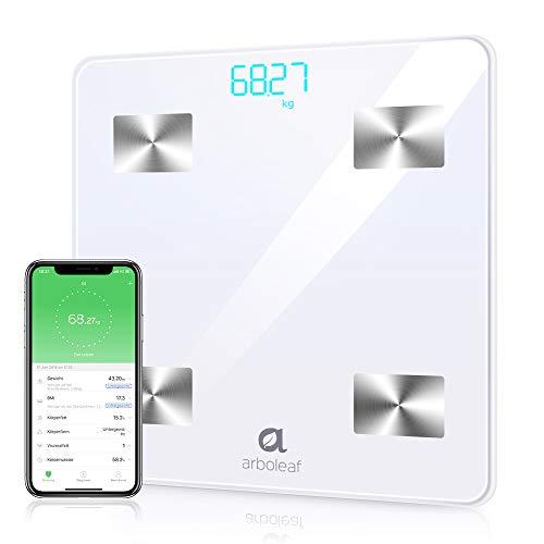 arboleaf Bluetooth Personenwaage - Körperwaage Körperfettwaage Digital