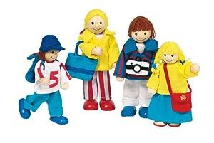 Goki Toys Pure 51932 - Muñecos articulados diseño Vacaciones Importado de Alemania
