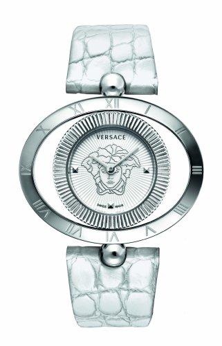 Versace - 91Q99D002S001 - Montre Femme - Quartz Analogique - Bracelet Cuir Blanc