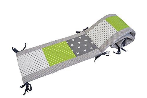 bebilino-original-tour-de-lit-bebe-gris-vert-360-x-30-cm