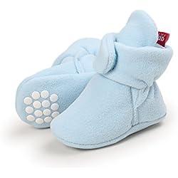 Adorel Patucos Antideslizante Zapatillas Invierno para Bebé Azul 0-6 Meses