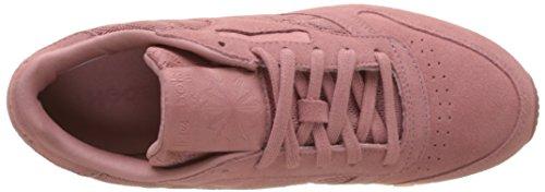 Reebok Damen Scarpe Da Ginnastica In Pelle Classiche Mehrfarbig (rosa Sabbia / Bianco)