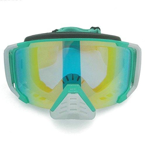 heinmo Motocross Goggle Motorrad Brille Sport MX Off Road Helm Radfahren Objektiv Eyewear (hellgrün)