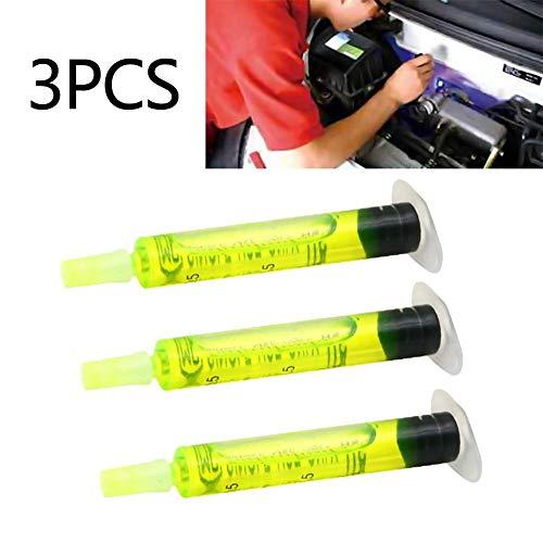 iBasteFR Agent de Test Automatique de Fuite de climatiseur 3PCS / Set Haute Concentration R134a R410 R12 Agent de Test de Fuite de système de climatisation A/c Voiture Huile de Traceur gelé Outil de