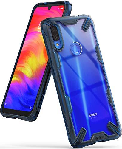 Ringke Fusion-X Diseñado para Funda Redmi Note 7, Funda Redmi Note 7 Pro Protección Resistente Impactos Carcasa para Xiaomi Redmi Note 7, Xiaomi Redmi Note 7 Pro (2019) - Space Blue