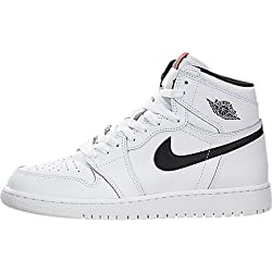 Nike Air Jordan 1 Retro High og bg, Zapatillas de Baloncesto para Hombre, Blanco (Blanco (White/Black-White-University Red)), 39 EU