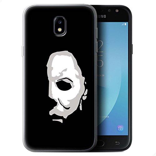 Stuff4® Gel TPU Hülle/Case für Samsung Galaxy J7 2017/J730 / Michael Myers Inspiriert Kunst Muster/Grusel Filmkunst Kollektion