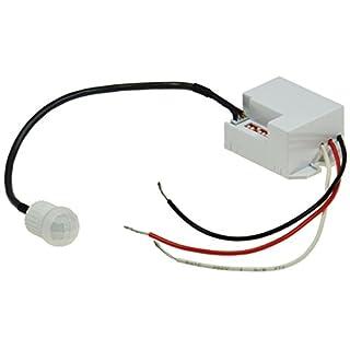 ChiliTec 22261 Einbau-Bewegungsmelder CT-PIR Mini, 12V DC, 1-60W, LED geeignet, weiß, 12 V