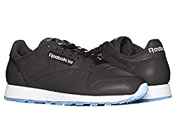 Reebok Men's Classic Leather m, Black/White/Silver/Ice, 13 M US