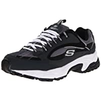 Skechers Sport Men's Stamina Nuovo Cutback Lace-Up Sneaker,Navy/Black,11 M US