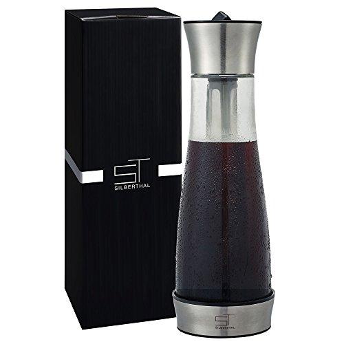 SILBERTHAL Cold Brew Coffee Kaffebereiter | kaltgebrühter Kaffee | Cold Brew Coffee Maker / Karaffe | Eisteezubereiter | 1,2 Liter / 7 Tassen