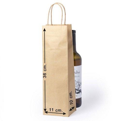 Siglo XXI 10 x Bolsas Papel Botella Asas Tam. 11 x