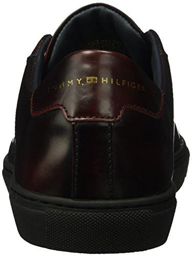 Tommy Hilfiger M2285ount 4z, Pompes à plateforme plate homme Marron - Braun (BURGUNDY 619)