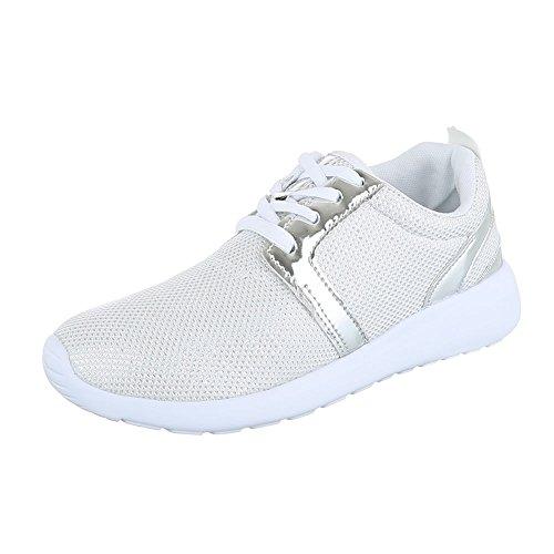 Ital-Design Scarpe da Donna Sneaker Piatto Sneakers Low Rosso Taglia 41 mLLAj
