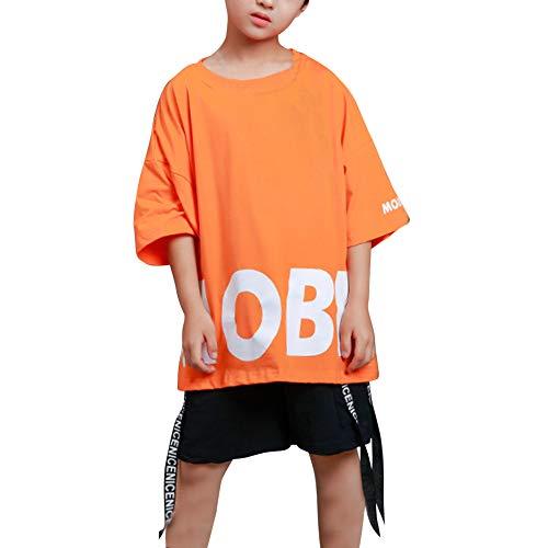 Huatime Tanzsport Jungen T Shirts - Kinder Erwachsene Shorts Anzüge Tanzen Jazz Hip Hop Modern Bühne Freestyle Sets Kostüme Performance ()