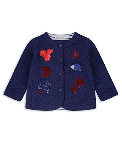 The Essential One - Baby Kinder Mädchen Gestickte Gesteppte Jacke - Blau - 9-12m - EOT541