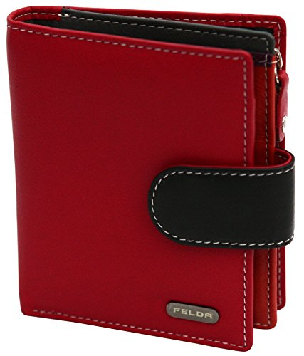 RFID Genuine Leather Ladies Soft Wallet Purse Womens Multi Colour 10 Card Slot