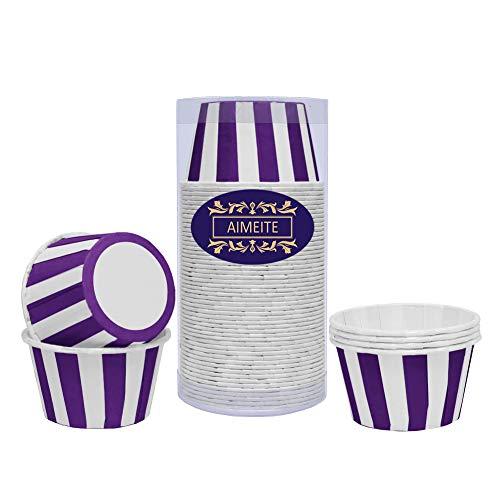 chen Papier Liners Backformen Cupcake Formen Papier Backförmchen Cupcake Wrappers 50 Stück-Set (Lila) ()
