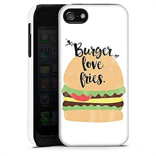 Apple iPhone X Silikon Hülle Case Schutzhülle Burger Fastfood Essen Tough Case matt