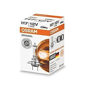 OSRAM ORIGINAL H7, halogen-headlamp bulb, 64210, 12V, folding carton box (1 piece)