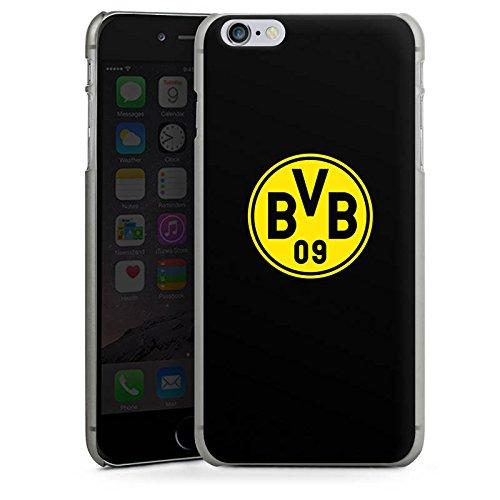Apple iPhone 5 Silikon Hülle Case Schutzhülle BVB Logo Borussia Dortmund Hard Case anthrazit-klar