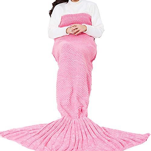 LvBo Meerjungfrau Decke Personalisierte Geschenke Handgemacht Gestrickt Warmes Wohnzimmer Sofa Decke Erwachsene Mädchen Freundin Kleinkind