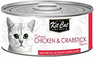 Kit Cat Deboned Chicken & Crabstick Toppers Canned Cat Food