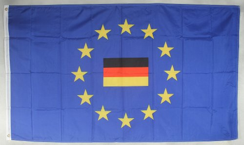 Flagge Fahne ca. 90x150 cm : Europa mit Deutschland mittig Europaflagge Europarat