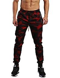 Longra☛☛Look Here Pantalones de Camuflaje Hombre Casual Pocket Sport Work Casual para Hombre