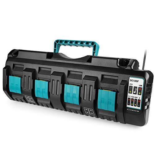 Energup DC18SF 4 Port Li-Ion Ladegerät für Makita 14.4V ~ 18V BL1830 BL1840 BL1850 BL1860 BL1815 BL1430 Akku DC18SF DC18RC DC18RD DC18RA Ladegerät