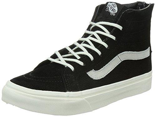 Vans Sk8-hi Slim Zip, Chaussures De Tennis, Donna Nero (lizard Emboss / Noir / Blanc De Blanc)